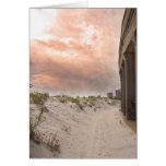 Atlantic city at sunset greeting card