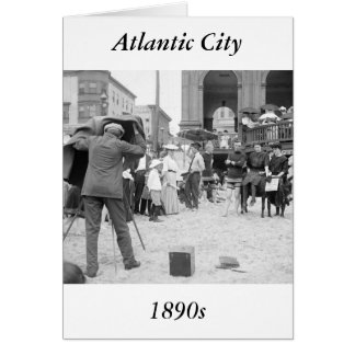 Atlantic City Beach, 1890s Card