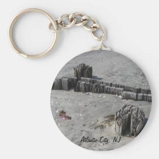 Atlantic City Beach Basic Round Button Keychain