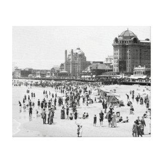 Atlantic City Beach & Boardwalk, 1910 Canvas Print
