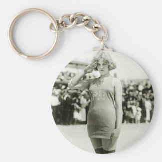 Atlantic City Beauty, early 1900s Basic Round Button Keychain