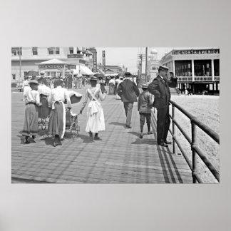 Atlantic City Boardwalk 1902 Print