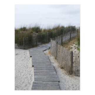 Atlantic City Boardwalk to Beach Postcard
