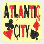 Atlantic City Calcomania Cuadradas Personalizada