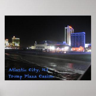 Atlantic City, casino de la plaza del triunfo del  Poster