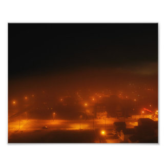 """Atlantic City debajo de la niebla 10"""" x 8"""" Arte Fotografico"""