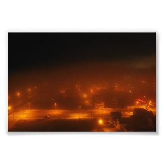 "Atlantic City debajo de la niebla 4"" x 6"" Arte Fotográfico"