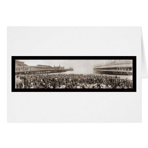 Atlantic City, foto 1912 de NJ Conv Tarjeta