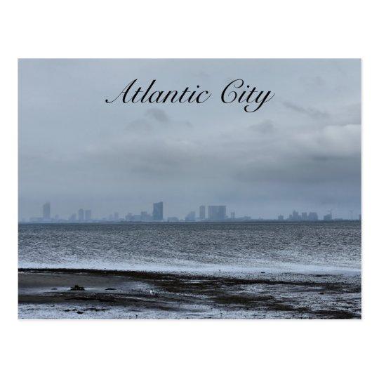 Atlantic City from Afar Postcard