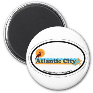 Atlantic City. Imán Redondo 5 Cm