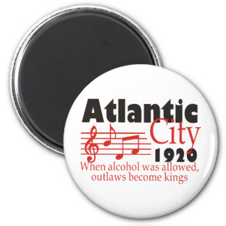 Atlantic City Imán Redondo 5 Cm