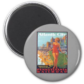 Atlantic City,New Jersey 2 Inch Round Magnet