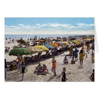 Atlantic City New Jersey Beach Scene Greeting Card