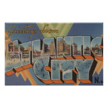 Atlantic City, New Jersey (Boardwalk Scene) Posters