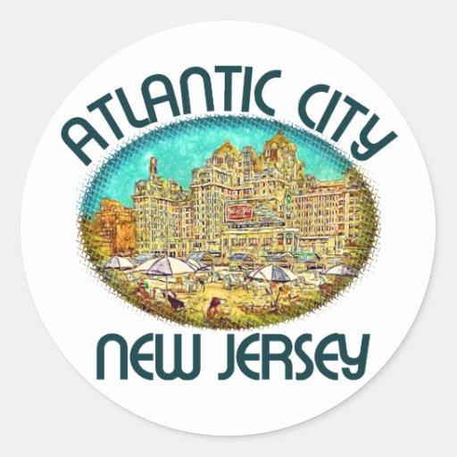 Atlantic City, New Jersey Classic Round Sticker