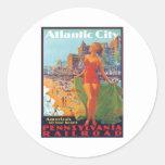Atlantic City,New Jersey Classic Round Sticker