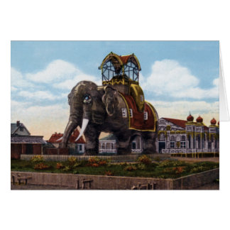 Atlantic City New Jersey Elephant Hotel at Margate Greeting Card