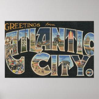 Atlantic City, New Jersey - escenas grandes 2 de l Póster