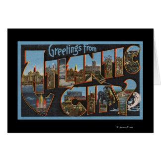 Atlantic City, New Jersey - escenas grandes 2 de l Tarjeta De Felicitación