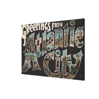 Atlantic City, New Jersey - escenas grandes 3 de l Impresión En Lienzo Estirada