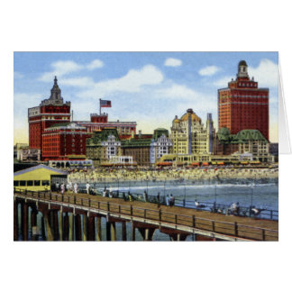 Atlantic City New Jersey from the Sea Greeting Card