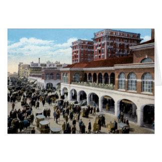 Atlantic City New Jersey Hadden Hall and Boardwalk Greeting Card