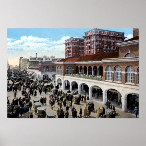 Atlantic City New Jersey Hadden Pasillo y paseo ma Posters