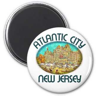 Atlantic City, New Jersey Imán Redondo 5 Cm