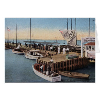 Atlantic City New Jersey Inlet Greeting Card