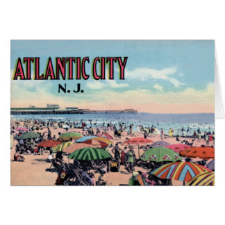 Atlantic City New Jersey Large Letter Greetings Greeting Card