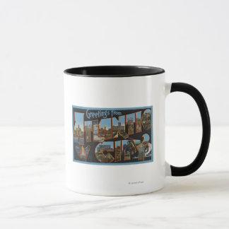 Atlantic City, New Jersey - Large Letter Scenes 2 Mug