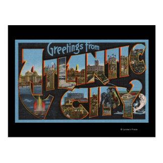 Atlantic City, New Jersey - Large Letter Scenes 2 Postcard