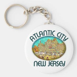 Atlantic City, New Jersey Llavero Redondo Tipo Pin