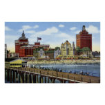 Atlantic City New Jersey Shoreline View Posters