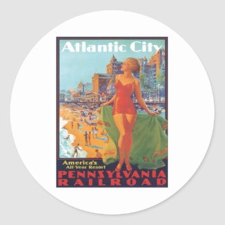 Atlantic City,New Jersey Round Sticker