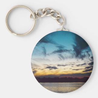 Atlantic City New Jersey Sunset Keychain