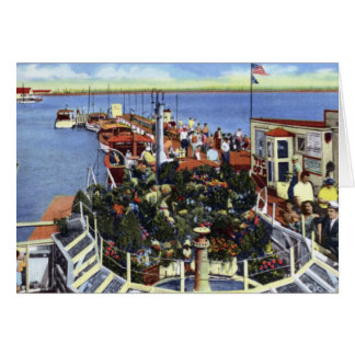 Atlantic City New Jersey Yachting Wharf Inlet Greeting Card