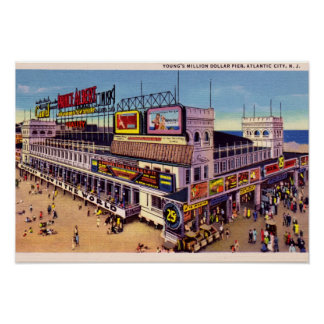 Atlantic City New Jersey Youngs Pier Poster