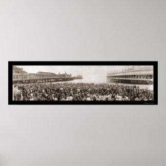 Atlantic City, NJ Conv Photo 1912 Poster