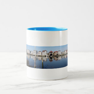 Atlantic City, NJ. Historic Gardner's Basin. Two-Tone Coffee Mug