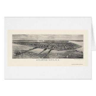 Atlantic City NJ Panoramic Map - 1905 Greeting Card
