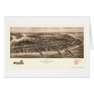 Atlantic City NJ Panoramic Map - 1909 Greeting Cards