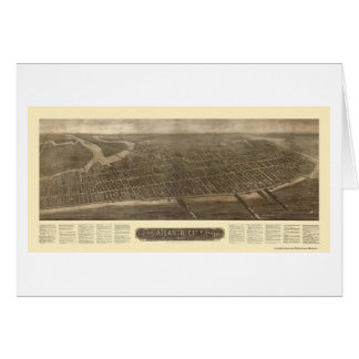 Atlantic City NJ Panoramic Map - 1910 Greeting Card