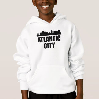 Atlantic City NJ Skyline Hoodie