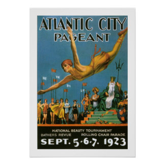 Atlantic City Pageant (border) Poster