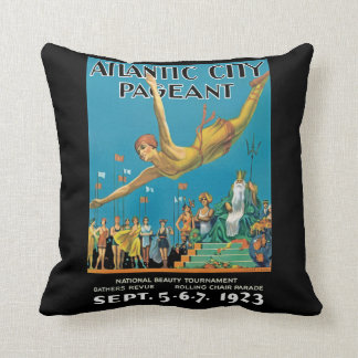 Atlantic City Pageant Throw Pillow