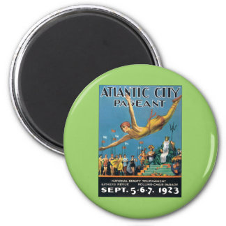 Atlantic City Pageant Vintage 2 Inch Round Magnet