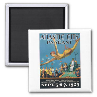 Atlantic City Pageant Vintage 2 Inch Square Magnet