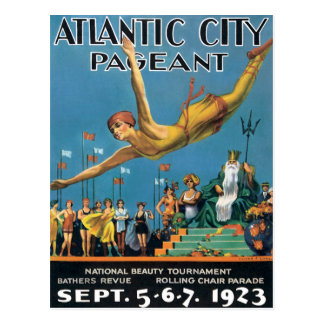 Atlantic City Pageant Vintage Postcard