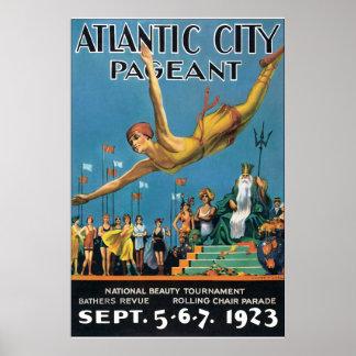 Atlantic City Pageant Vintage Travel Poster